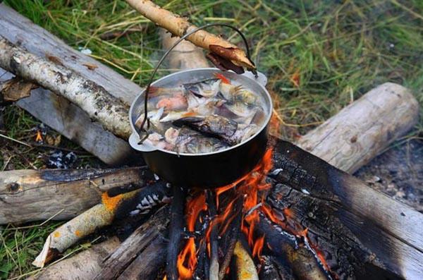 Готовим на рыбалке